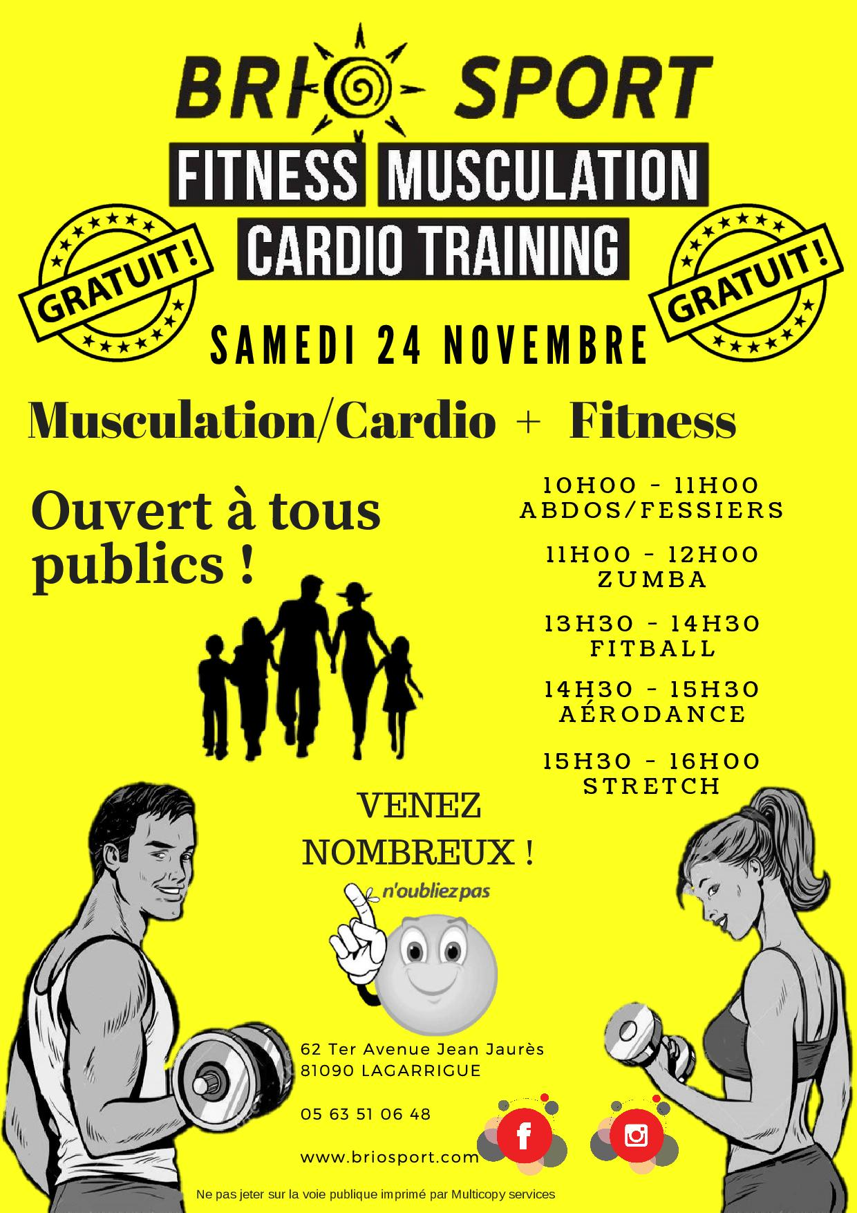 Salle de Sport Fitness Musculation Cardio Cryolipolyse- Castres - Lagarrigue