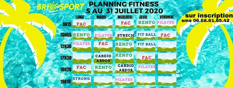 Planning juillet 2020