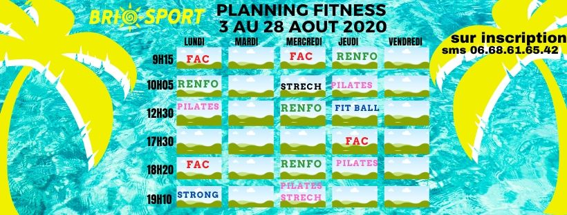 Planning août 2020